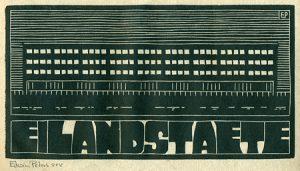 Eilandstaete | houtsnede | 27,5 x 14,5 cm | 2012 | ■■