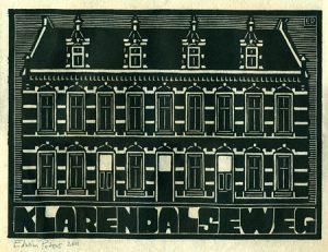 Klarendalseweg | houtsnede | 27,5 x 20 cm | 2011 | ■■