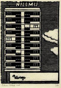 Nillmij-flat | houtsnede | 16 x 22,5 cm | 2006