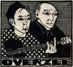 Overzee | houtsnede | 22 x 20 cm | 2002
