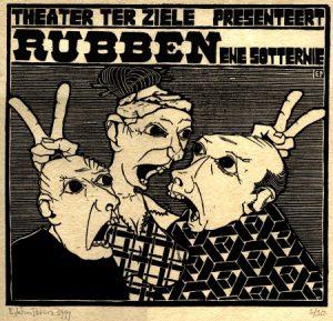 Rubben, Ene Sotternie | houtsnede | 31,5 x 29,5 cm | 1999
