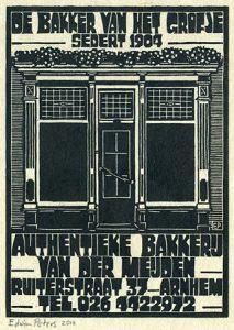 Ruiterstraat 37 | houtsnede | 20 x 27,5 cm | 2012 | ■■