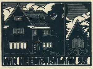 Van Heemstralaan 95 | houtsnede | 27 x 19,5 cm | 2017