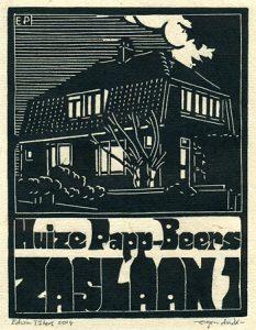 Zaslaan 1 / Huize Papp-Beers | houtsnede | 14,5 x 19 cm | 2014