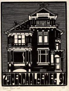 Zijpendaalseweg 91 | houtsnede | 19,5 x 25 cm | 2008