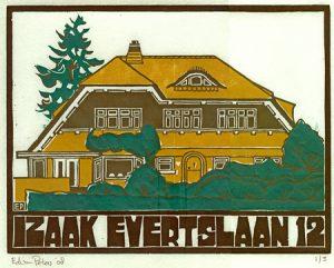 Izaak Evertslaan 12 | kleurenhoutsnede | 25 x 19,5 cm | 2008