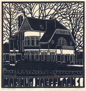 Marinus Naefflaan Lochem | houtsnede | 29,5 x 31,5 cm | 2019