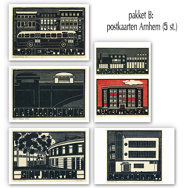 postkaarten pakket B - Arnhem