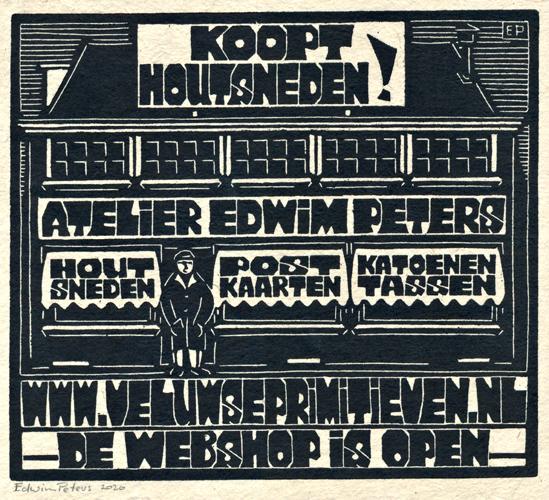 Koopt Houtsneden! | houtsnede | 24,5 x 22 cm | 2020