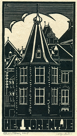 Het Torentje | houtsnede | 15,5 x 28,5 cm | 2015 | ■■