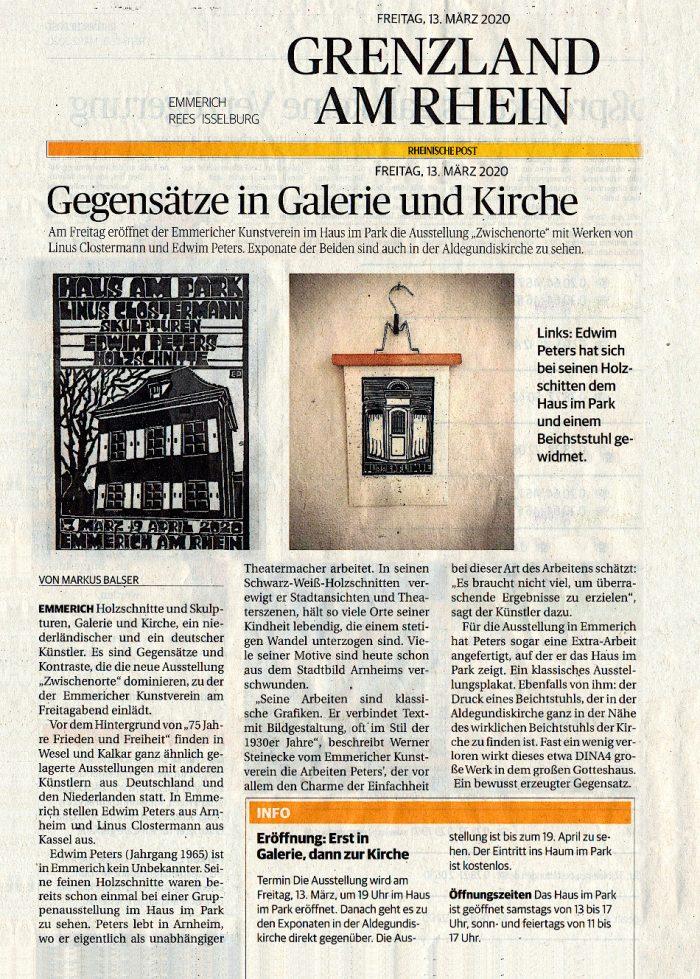 Zwischenorte | Rheinische Post 13-03-20